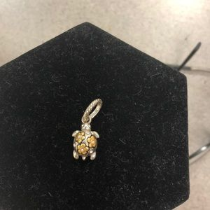 Brighton Spring Shell Turtle Charm Gold Daisies